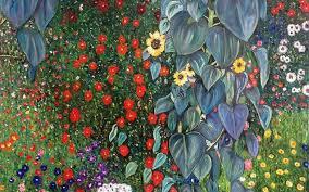 gustav klimt farm garden with sunflowers designs