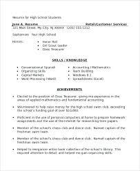 Gallery Of Sample High School Student Resume 8 Examples In Word Pdf