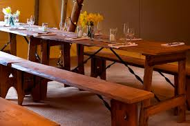 furniture hire bristol catering equipment ev on rustic dining table and chairs