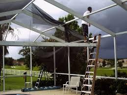 pool cage repair. Beautiful Repair Looks Like A Storm Coming I Call It Screennado For Pool Cage Repair L
