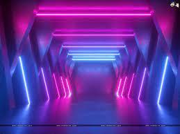 A 3D neon art wallpaper