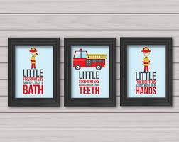 fireman baby room decor. set of 3 8x10 prints, little firemen art, firefighters take a bath, · firefighter babyfirefighter decorkids decorbaby decorkid wall fireman baby room decor o