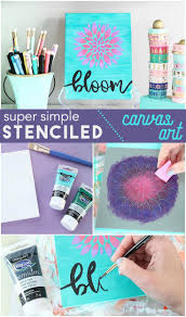DecoArt Blog - Crafts - Simple Stenciled Canvas Wall Art