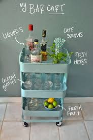 Raskeg Ikea Cart - for Glasses/Dishware/Drink Storage in Main Room, and