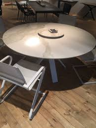 round small marble dining table in gray