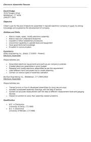 medical device assembler resume - Medical Assembler Resume