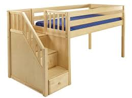 kids bunk bed. Maxtrix Kids Low Loft Bed With Stairs Bunk