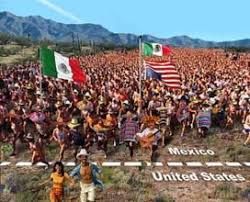 Image result for images of mexicans crossing the border