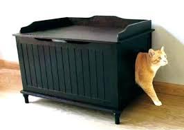 corner cat litter box furniture. Cat Litter Box Cabinet Hidden Cushion Bed Cleaning . Corner Furniture N