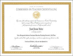 Designated Subjects Vocational Education Teaching Credential