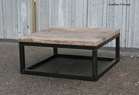 modern urban loft furniture: urban loft reclaimed wood coffee table modern vintage industrial