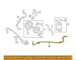 Engine Compatibility Chart Toyota Toyota Oem 07 09 Camry Power Steering Return Hose Lower