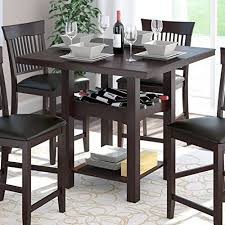 wine rack dining table. Corliving Dkr T Counter Height Dining Table With Wine Rack, Tables Rack L