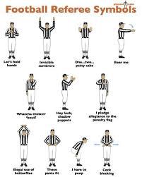 11 Organized Football Referee Signals Chart