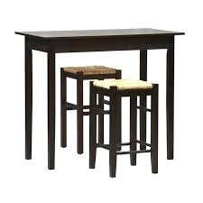 3 piece counter height pub table set 3 space saver counter height dining set in espresso
