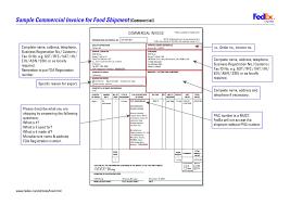 Fedex Proforma Invoice Example Sample Template Commercial Australia