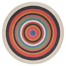 round concentric jute area rug