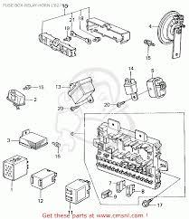 honda civic 1982 c 4dr1500 ka kh kl fuse box relay horn 82 fuse box relay horn 82 83 schematic