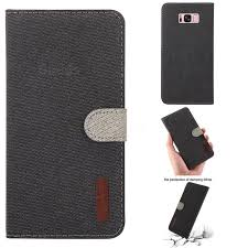 linen cloth pudding leather case for samsung galaxy s8 plus s8 black