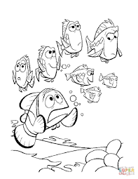 Finding Nemo Coloring Pages Free And Neuhneme