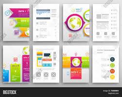 Brochure Graphic Design Background Set Flyer Brochure Vector Photo Free Trial Bigstock