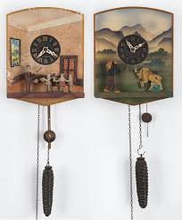 two german novelty wall clocks with