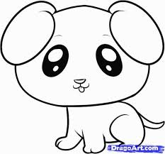 Small Picture Image Gallery of Cute Dog Drawings For Kids