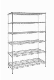 details about hdx shelving storage unit 6 shelves adjule height free standing steel chrome