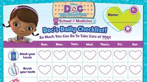 Docs School Of Medicine Daily Checklist Docmcstuffins