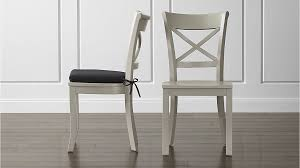 crate barrel furniture reviewslowe ivory leather. Crate And Barrel Slipcover Dining Chairs. Vintner Dove Wood Chair Black Cushion Furniture Reviewslowe Ivory Leather