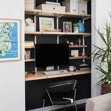 office floating shelves. White \u0026 Birch Elfa Décor Office Floating Shelves C
