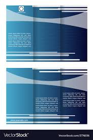 Company Brochure Example Blue Tri Fold Business Brochure Template