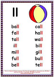 Phonics helps students learn to identify relationships between words and sounds. Ll Words 1 Phonics Posters Phonics Words English Phonics