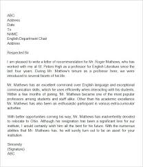 Letter Of Recommendation Template To Whom It May Concern New Letter