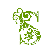 green and white background design png.  White Graphic Design Of Flower Clipart  Green Alphabet S With White Background In And Png A