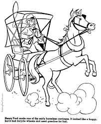 Small Picture Horseless carriage coloring pages for kids 073