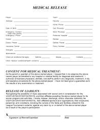 Medical Release Form | Hilton Heat Soccer Club - Release Form ...