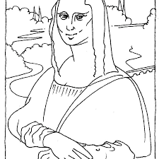 Mona Lisa Coloring Page Printable Coloring Page Good Coloring Page