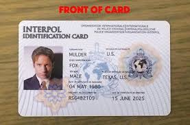 Fake Card Props Only -pvc For 1627698549 Badge Interpol Novelty Customizable Fbi Id