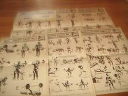Joe Weider S Bodybuilding System Book And Charts Details About 6 Lot Laminated Weider Wall Charts Weider System Progressive Barbell Exercise