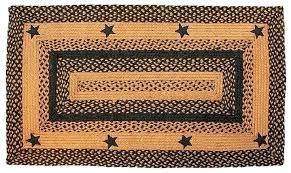 primitive area rugs local primitive braided rug image detail for barn star area rug black braided