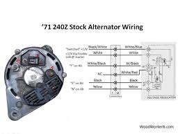 240z alternator upgrade woodworkerb 3 Pin Alternator Wiring Diagram figure 3 stock alternator wiring, with the stock (mechanical) voltage regulator for reference lucas 3 pin alternator wiring diagram