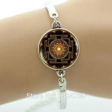 whole sacred geometry jewelry india mandala bracelet yoga bracelet sri yantra spiritual silver bracelet buddhist women jewelry ma23 charms for a charm