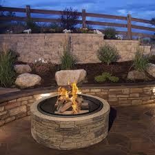 wood burning firepit 35 cast stone fire pit w screen outdoor patio backyard