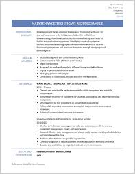 Sample Resume For Maintenance Technician Best Sample Resume Maintenance Technician 24 Resume Sample Ideas 6