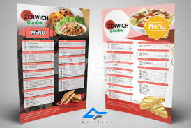 Restarunt Brochure Mesmerizing Design Restaurant Menu Food Menu Or Flyer Menu By Artflexdesigns