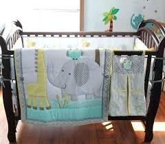 elephant baby bedding elephant nursery decor q cotton embroidery owl giraffe baby bedding set quilt per skirt mattress elephant nursery crib bedding sets