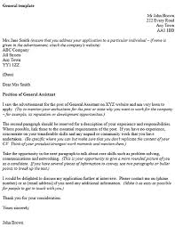 general cover letter template example