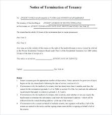tenancy termination letter template. Sample Lease Termination Letter To Landlord Commercial Lease