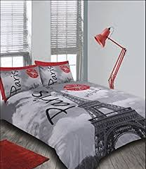 Single Bed Duvet / Quilt Cover Bedding Set Paris Eiffel Tower Kiss ... & Single Bed Duvet / Quilt Cover Bedding Set Paris Eiffel Tower Kiss / Lips  Bedding Adamdwight.com